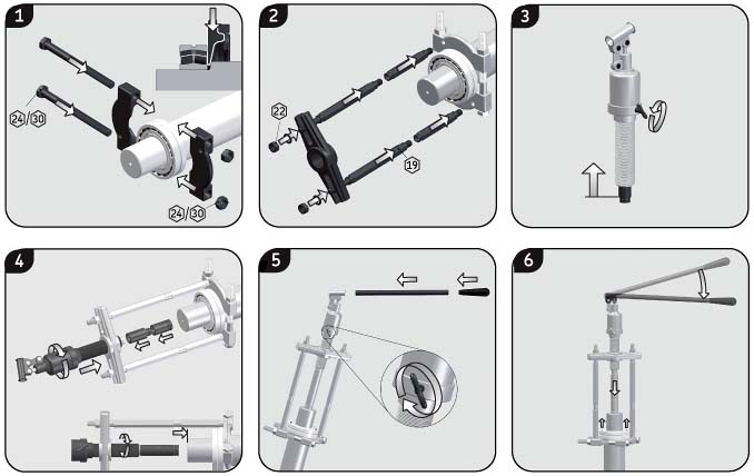 How To Use Bearing Puller Set : Hydraulic puller kit skf tmbs e