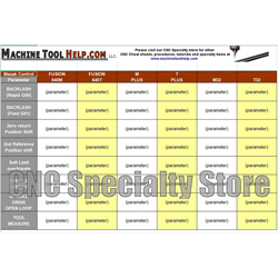 Mazak Common Parameter Reference Sheet - CNC Specialty Store