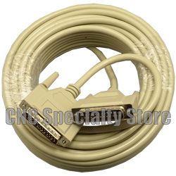M//F RS232 Serial or Parallel Extension Cable Sf Cable 50ft DB25 Straight Thru Molded Cable