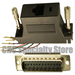 db25 male to rj45 rs232 adapter cnc specialty store. Black Bedroom Furniture Sets. Home Design Ideas