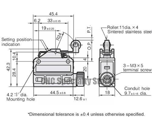 SL1-P Honeywell azbil Microswitch YAMATAKE court PISTON ROULEAU limite 5 A 250 V